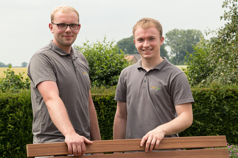 Liegeland Marius Köneke und Niklas Frische