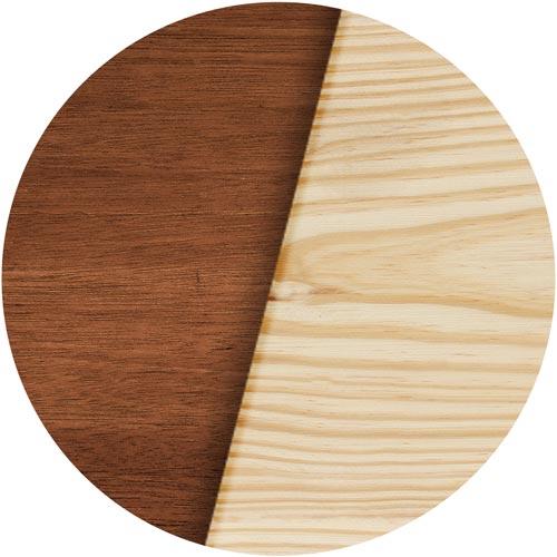 Liegeland Holzart Lärche oder Bangkirai